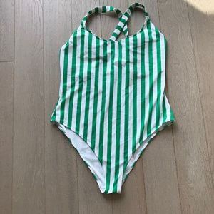 forever 21 Stripped one piece swimsuit New plus 3X